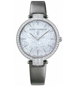 Harry Winston [NEW] Premier Ladies 39mm quartz 18K white gold white light mother of pearl partially PRNQHM39WW001