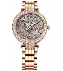 Harry Winston [NEW] Premier Pearly Lace 36mm automatic 18K rose gold timepiece purple mother of pearl dial PRNAHM36RR015