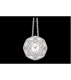 Harry Winston [NEW] The Jeweler's Secret Pendant quartz 18K white gold timepiece unique setting HJTQHM48WW001