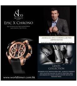 Jacob & Co.捷克豹 [NEW][LIMITED 50 PIECE] EPIC-X Chrono Luis Figo EC311.42.PD.BF.A