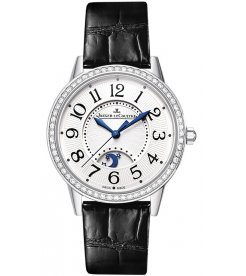 Jaeger LeCoultre [NEW] Q3448421 Rendez-vous Day and Night Silver Dial Stainless Steel Diamond Black Leather Ladies (Retail:HK$106,000)