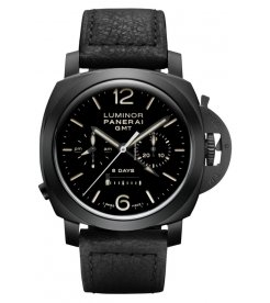 PANERAI [NEW] LUMINOR 1950 CHRONO MONOPULSANTE 8 DAYS GMT CERAMICA PAM 317 (Retail:HK$166,200)