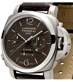 PANERAI [NEW] LUMINOR 1950 MONUPULSANTE PAM 311 TITANIUM GMT 8 DAYS