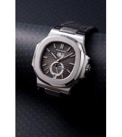 Patek Philippe [NEW] Nautilus 5726AAnnual Calendar Moon Phase Black Dial Watch