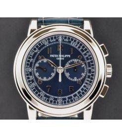 Patek Philippe [NEW] 5070P Blue Dial Classic Chronograph Platinum
