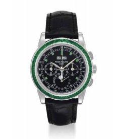 Patek Philippe [NEW] 5271/13P-001 EMERALD Baguette Perpetual Calendar Watch