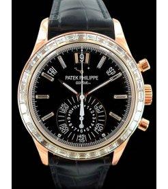 Patek Philippe [NEW] 5961RAnnual Calendar Chronograph RG baguette diamonds
