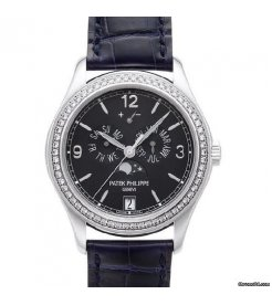 Patek Philippe [NEW] Complications Annual Calendar 5147G-001 Blue Dial White Gold Diamond (Retail:HK$371,800)