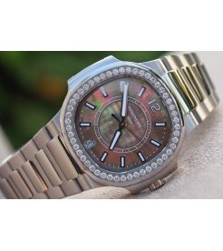 Patek Philippe [NEW] Ladies Nautilus 7008/1A-012 Black Tahitian Pearl Dial - SOLD!!