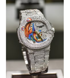 Patek Philippe [NEW] Nautilus 5720/2G White Gold Diamond Bird Dial - SOLD!!