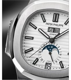Patek Philippe [NEW] Nautilus Annual Calendar Moonphase White 5726/1A-010 (Retail:HK$331,000) - SOLD!!