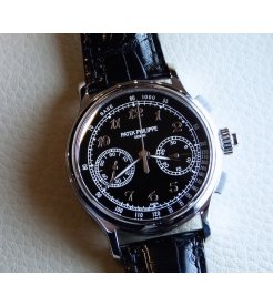 Patek Philippe [NEW] Split-Seconds Chronograph 41mm Black Enamel Dial 5370P