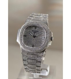 Patek Philippe [NEW] Nautilus Men's White Gold Diamond 5719/1G (Retail:HK$1,990,400)