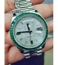 Rolex 228396TEM Day-Date 40mm Platinum Green Emerald (Retail:EUR 430.000)
