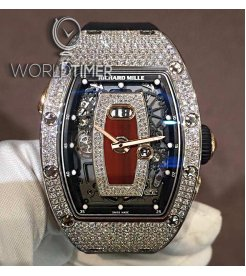 Richard Mille [NEW] RM 037 White Gold Full Set Diamonds Red Lip Ladies Watch