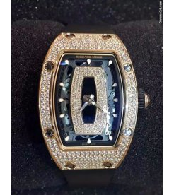 Richard Mille [NEW][RARE] RM 07-01 Rose Gold Full Set Diamond Black Lip Watch