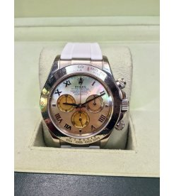 Rolex [MINT] Daytona 116519 Yellow MOP Dial on White Gold & Rubber B Strap - SOLD!!