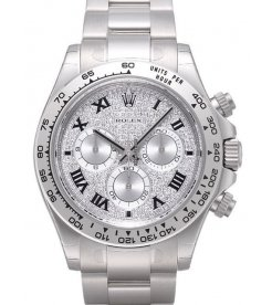 Rolex [NEW] 116509 ZER Cosmograph Daytona Paved Diamond Dial Black Roman Index (Retail:HK$372,100)