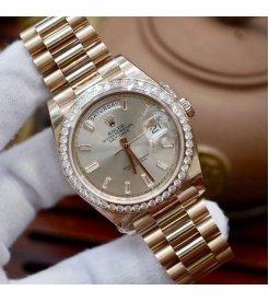 Rolex [NEW] Day-Date 40mm Rose Gold 228345RBR Sundust Diamond Dial & Diamond Bezel President Bracelet (Retail:HK$430,600)