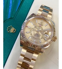 Rolex [NEW] Sky-Dweller 42mm Mens 326938 Champagne Index Dial Mens Watch (Retail:HK$359,000)